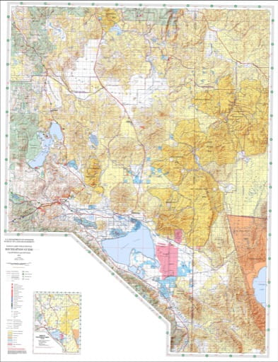 Recreation Map of the Eagle Lake BLM Field Office area in California and Nevada. Published by the Bureau of Land Management (BLM).