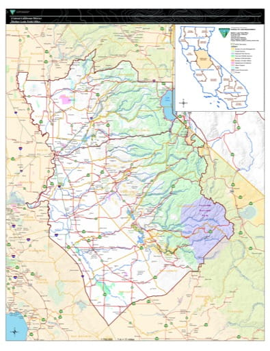 Boundary Map of the Mother Lode BLM Field Office in California. Published by the Bureau of Land Management (BLM).