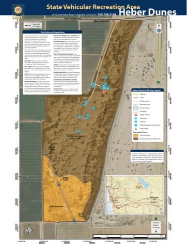 map of Heber Dunes