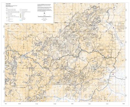map of Klammath MVTM - Oak Knoll 2012