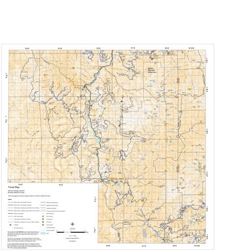 map of Klammath MVTM - Ukonom 2012