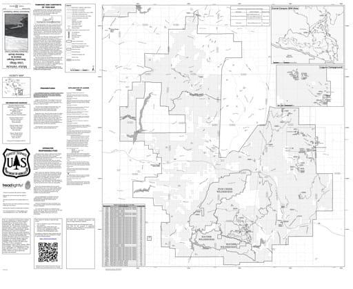 map of Cleveland MVUM - Descanso 2017