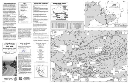 map of Eldorado MVUM - Amador inset 2019