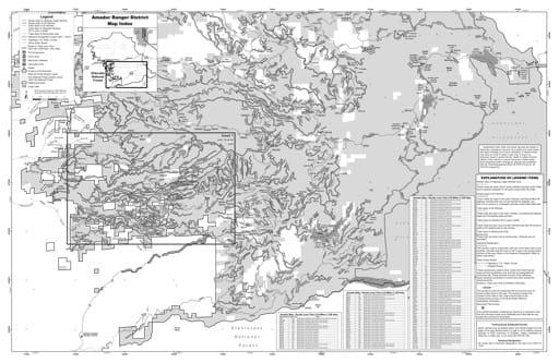 map of Eldorado MVUM - Amador 2019