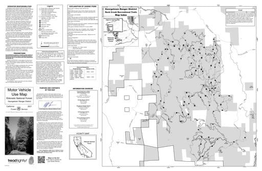 map of Eldorado MVUM - Georgetown inset 2019