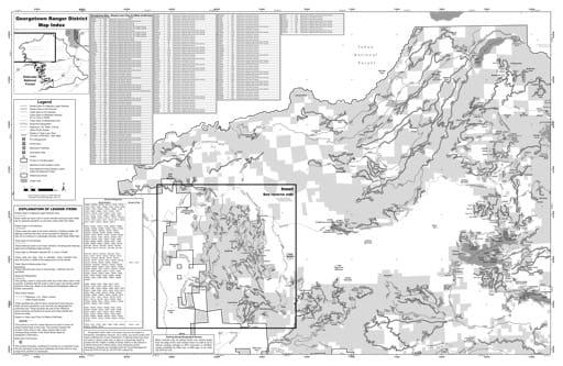 map of Eldorado MVUM - Georgetown 2019