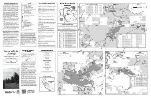 map of Eldorado MVUM - Pacific inset 2019