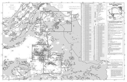 map of Eldorado MVUM - Pacific 2019