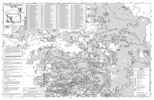 map of Eldorado MVUM - Placerville 2019