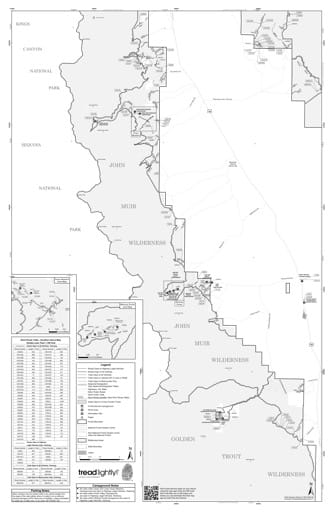 Motor Vehicle Use Map (MVUM) of the Southern Sierra area in Inyo National Forest (NF) in California. Published by the U.S. Forest Service (USFS).