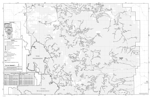 map of Mendocino MVUM - North Central 2017