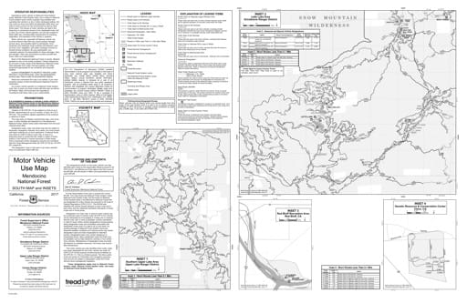 map of Mendocino MVUM - South Insets 2017