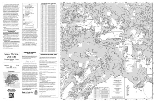 Motor Vehicle Use Map (MVUM) of Quincy in Plumas National Forest (NF) in California. Published by the U.S. Forest Service (USFS).