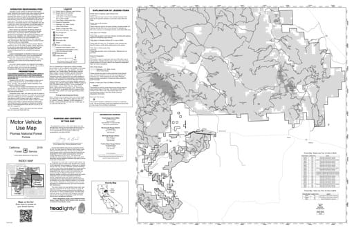 Motor Vehicle Use Map (MVUM) of Portola in Plumas National Forest (NF) in California. Published by the U.S. Forest Service (USFS).