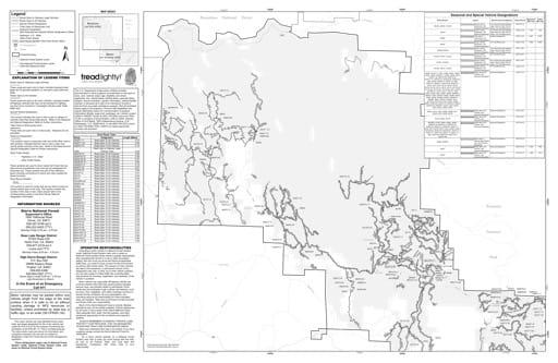 map of Sierra MVUM - Bass Lake (Mariposa) 2019