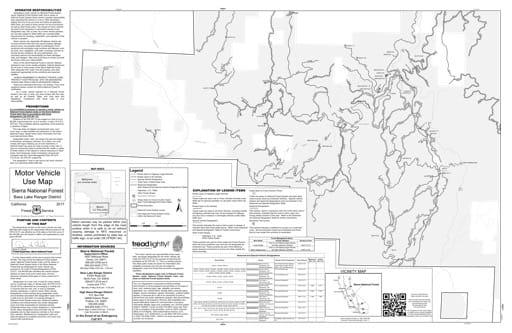 map of Sierra MVUM - Bass Lake (Miami) 2019