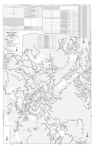 map of Sierra MVUM - Bass Lake (Sierra Vista West) 2019