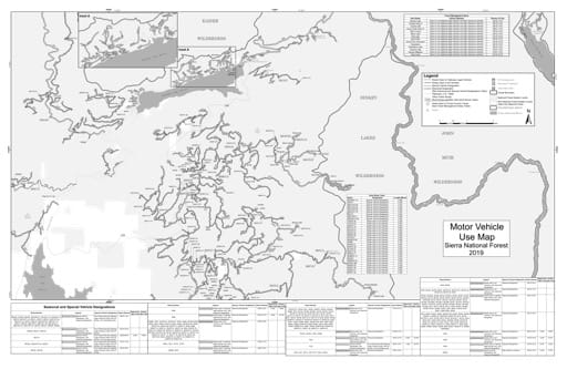 map of Sierra MVUM - High Sierra (Tamarack) 2019