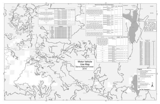 map of Sierra MVUM - High Sierra (Dinkey East) 2019