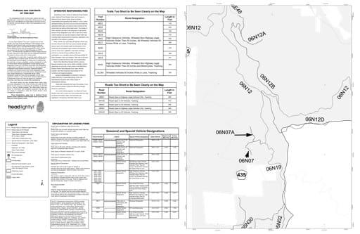 map of Six Rivers MVUM - Lower Trinity South Back 2012