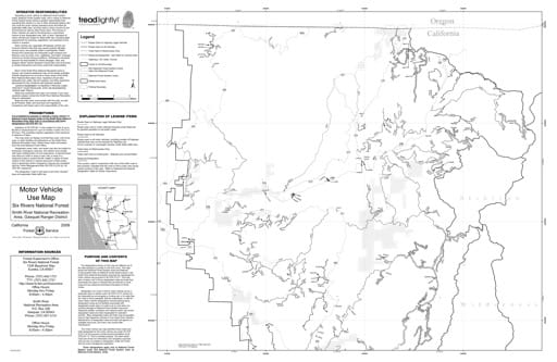 map of Six Rivers MVUM - Smith Rivers NRA North 2009