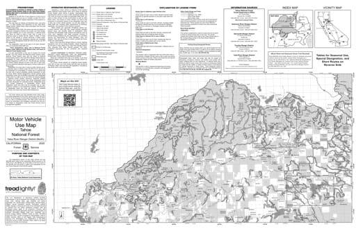 map of Tahoe MVUM - Yuba River North 2013