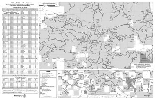 map of Tahoe MVUM - Serriaville Back 2013