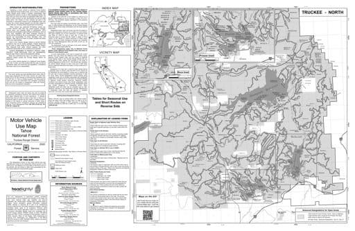 map of Tahoe MVUM - Truckee South 2013