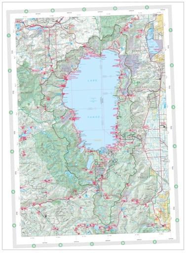 map of Eldorado NF - Lake Tahoe Recreation Map