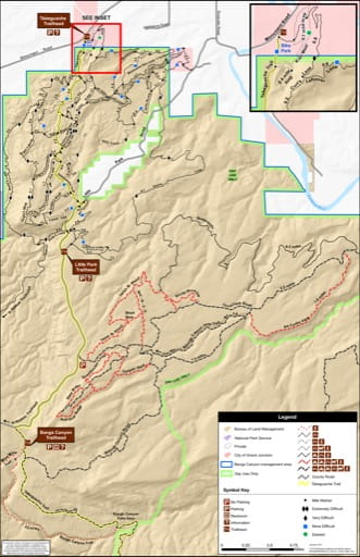 map of Bangs Canyon - OHV Trails