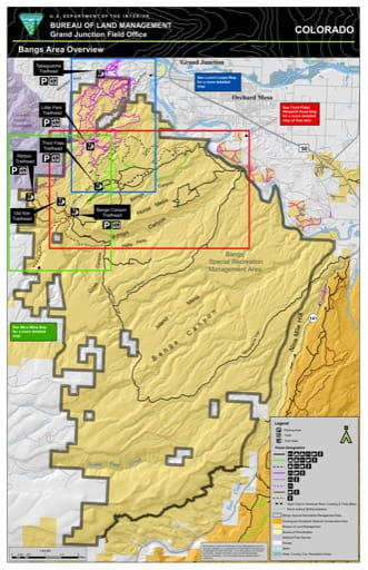 map of Bangs Canyon - Overview