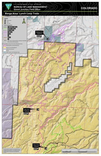 map of Bangs Canyon - Lunch Loops