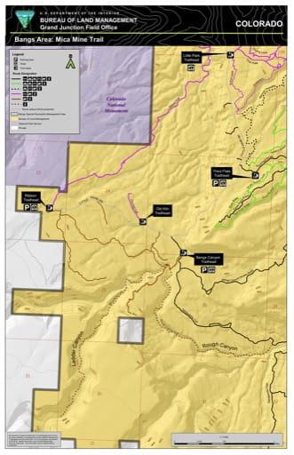 map of Bangs Canyon - Mika Mine Trail