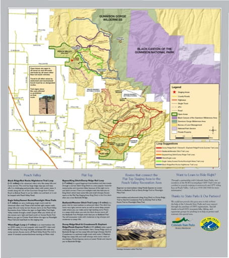 map of Flat Top - Peach Valley - OHV Trail System
