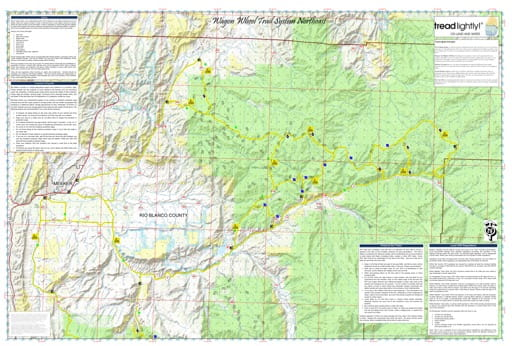 map of White River - Wagon Wheel Trails Northeast