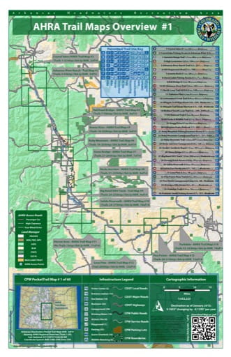 CPW Pocket Trail Map #1: Overview Trails Map of Arkansas Headwaters Recreation Area (RA) in Colorado. Published by Colorado Parks & Wildlife.