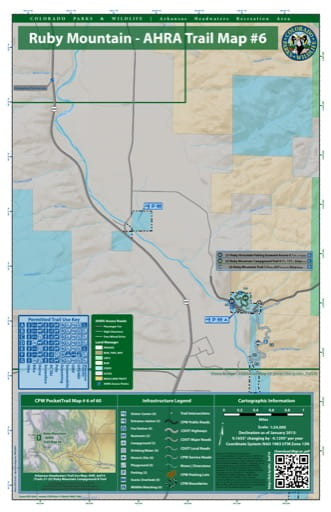 CPW Pocket Trail Map #6: Trails Map of Ruby Mountain Campground & Trail in the Arkansas Headwaters Recreation Area (RA) in Colorado. Published by Colorado Parks & Wildlife.