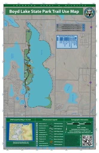map of Boyd Lake - Trail System (#16)