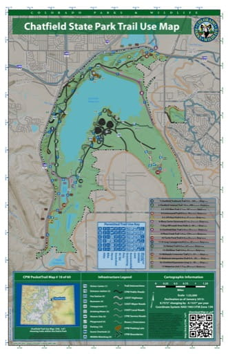 map of Chatfield - Trail System (#18)