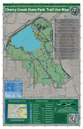 map of Cherry Creek - Trail System (#19)