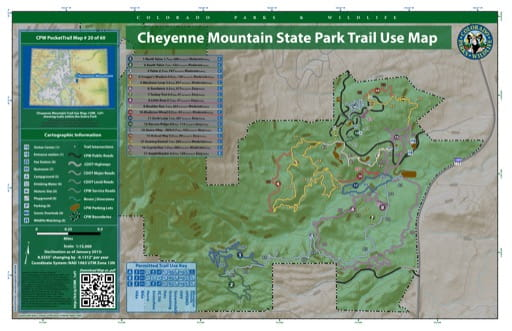 map of Cheyenne Mountain - Trail System (#20)