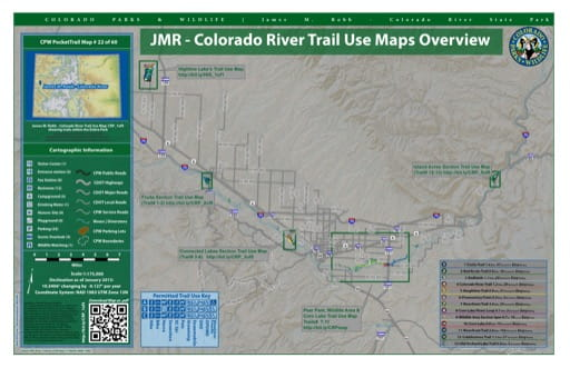 map of James M. Robb - Colorado River - Overview (#22)