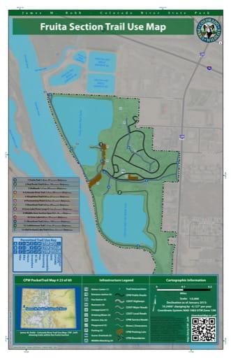 map of James M. Robb - Colorado River - Fruita Section (#23)