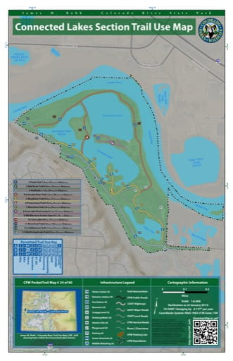 map of James M. Robb - Colorado River - Connected Lakes Section (#24)