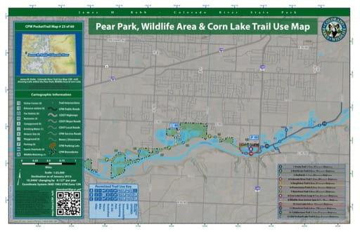 map of James M. Robb - Colorado River - Pear Park, Wildlife Area & Corn Lake (#25)