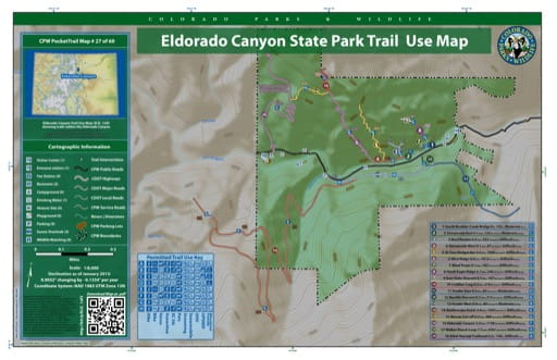 map of Eldorado Canyon - Trail System (#27)