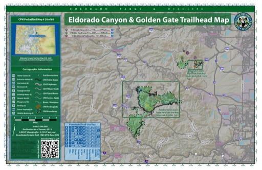 map of Eldorado Canyon - Eldorado Canyon & Golden Gate (#28) Trailheads