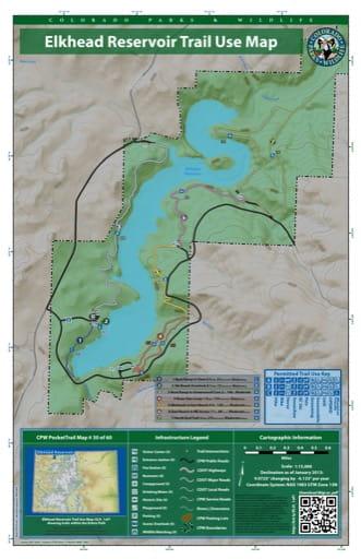 map of Elkhead Reservoir - Trail System (#30)