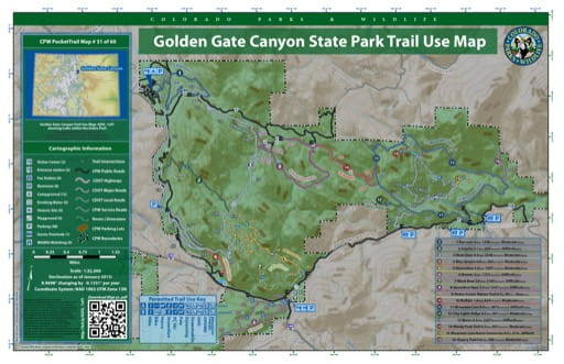 map of Golden Gate Canyon - Trail System (#31)
