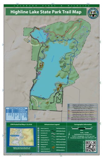 map of Highline Lake - Trail System (#32)